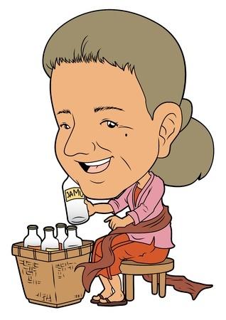ジャムゥ売りのおばさん