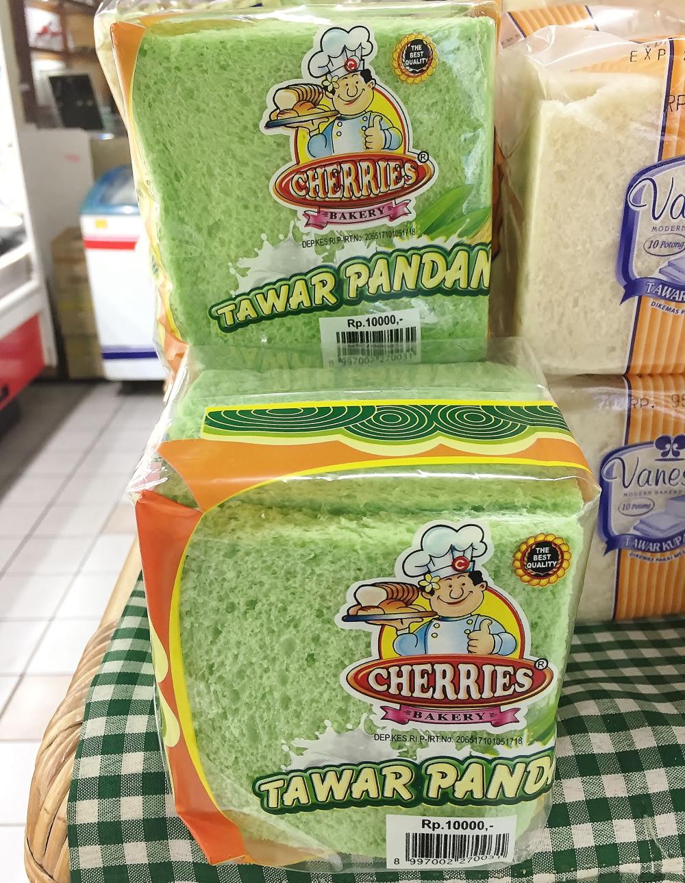 Tawar pandan 緑の食パン
