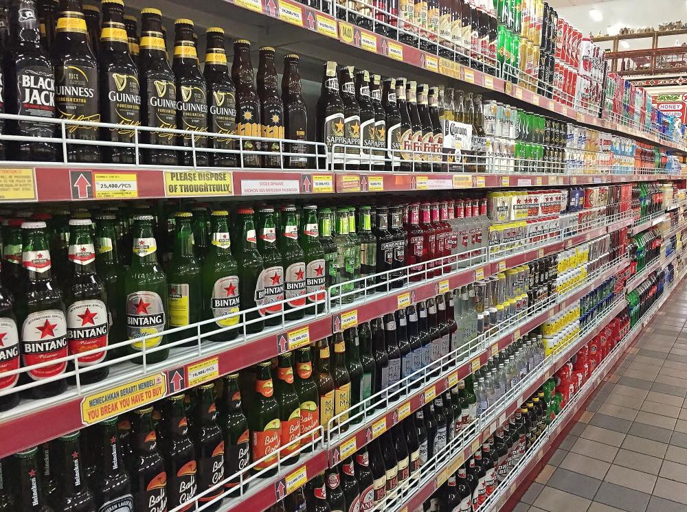 バリのスーパー ビール 種類