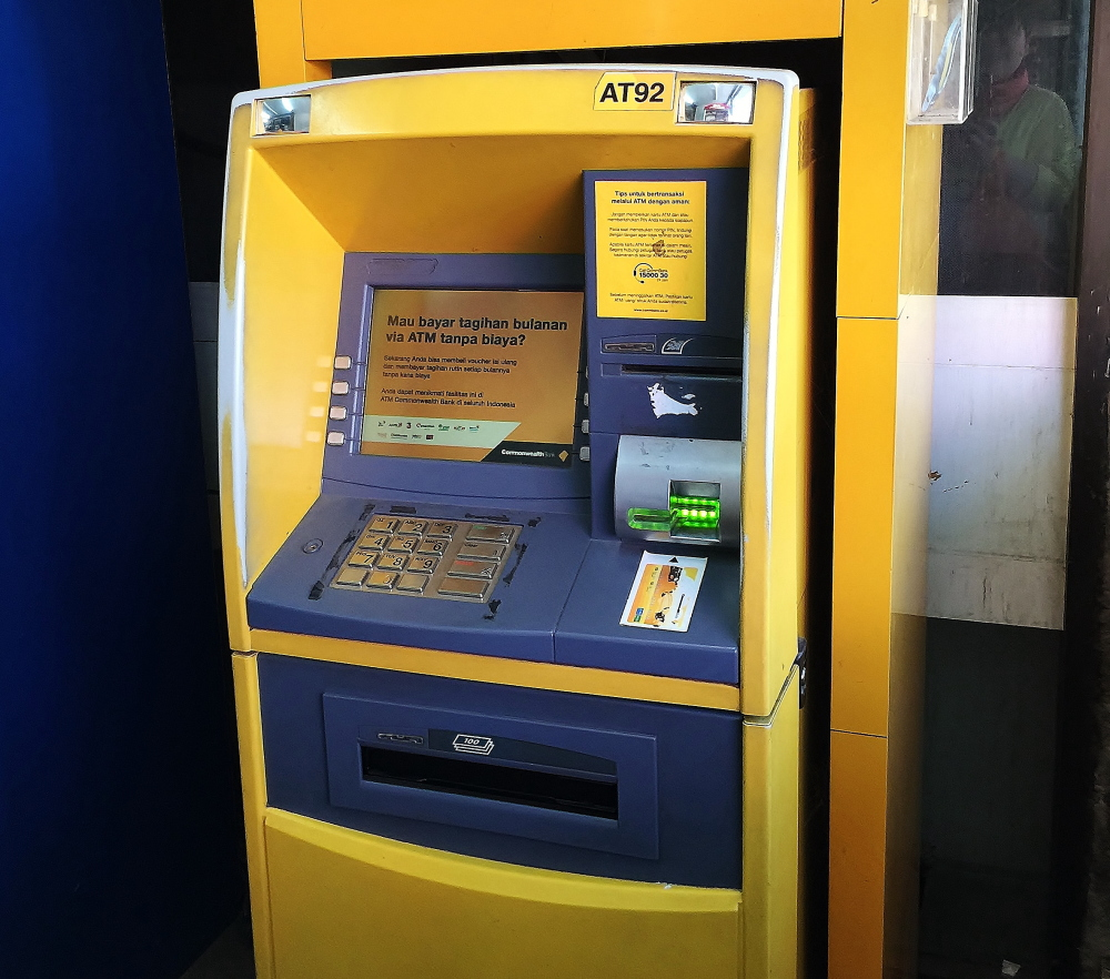 インドネシア ATM