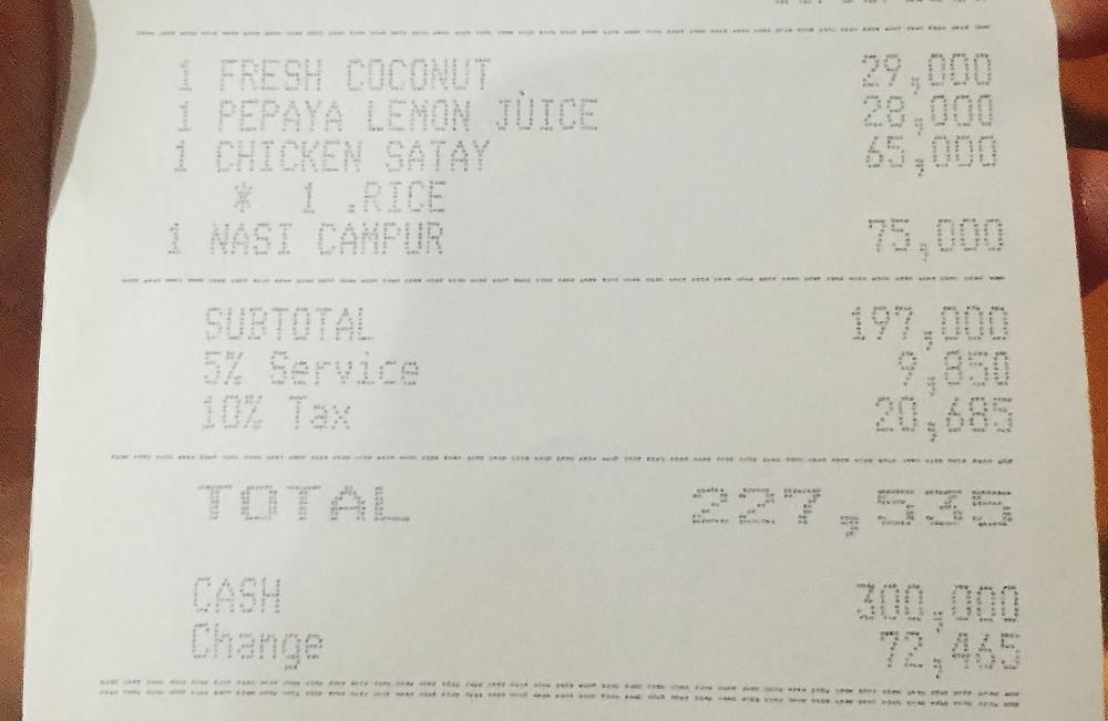 カフェスミニャックのメニューとお値段