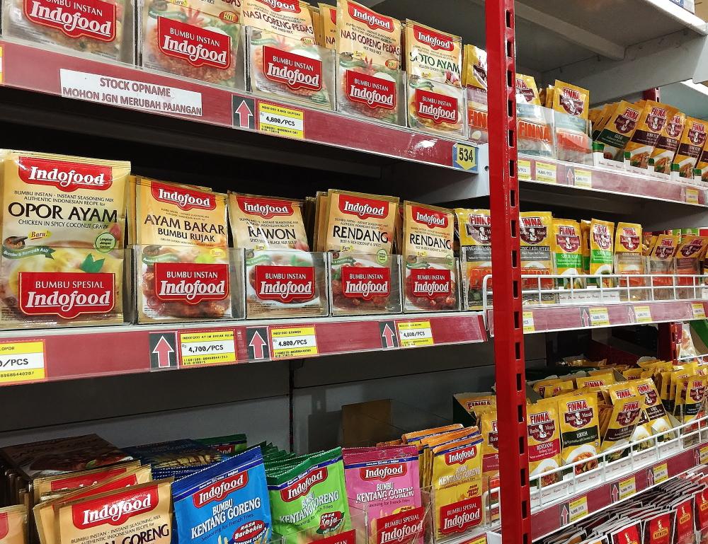 バリのスーパーで買える料理の素 インスタント食品