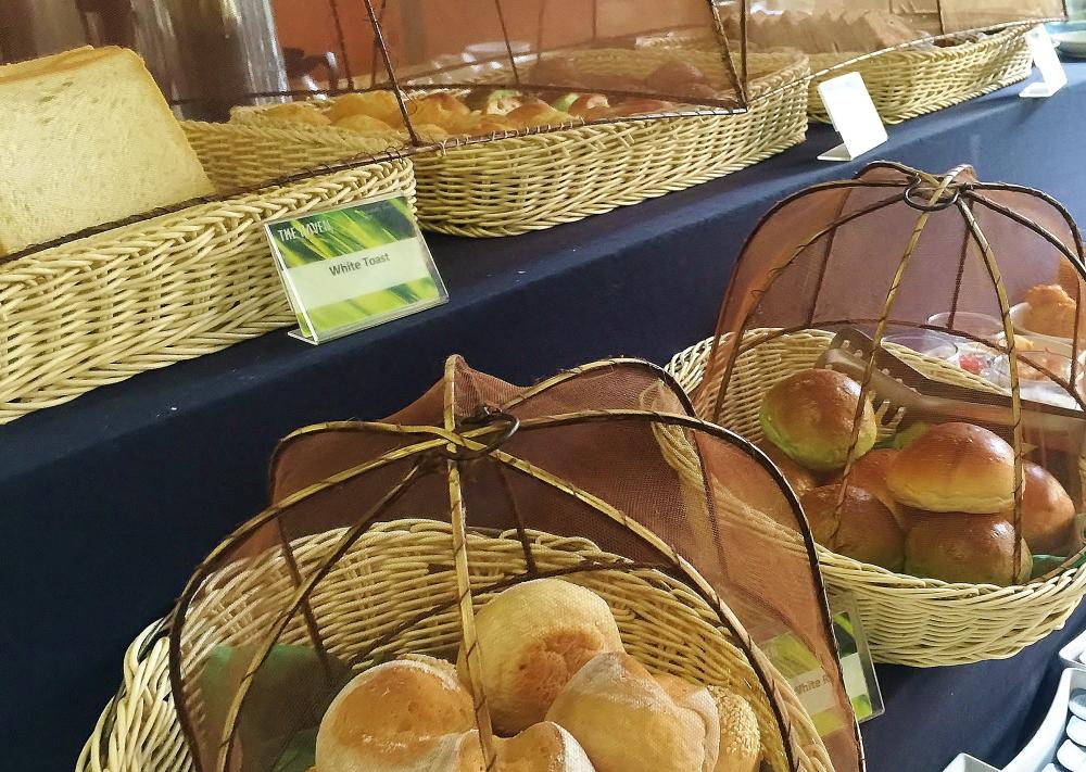 インドネシア 緑のパン
