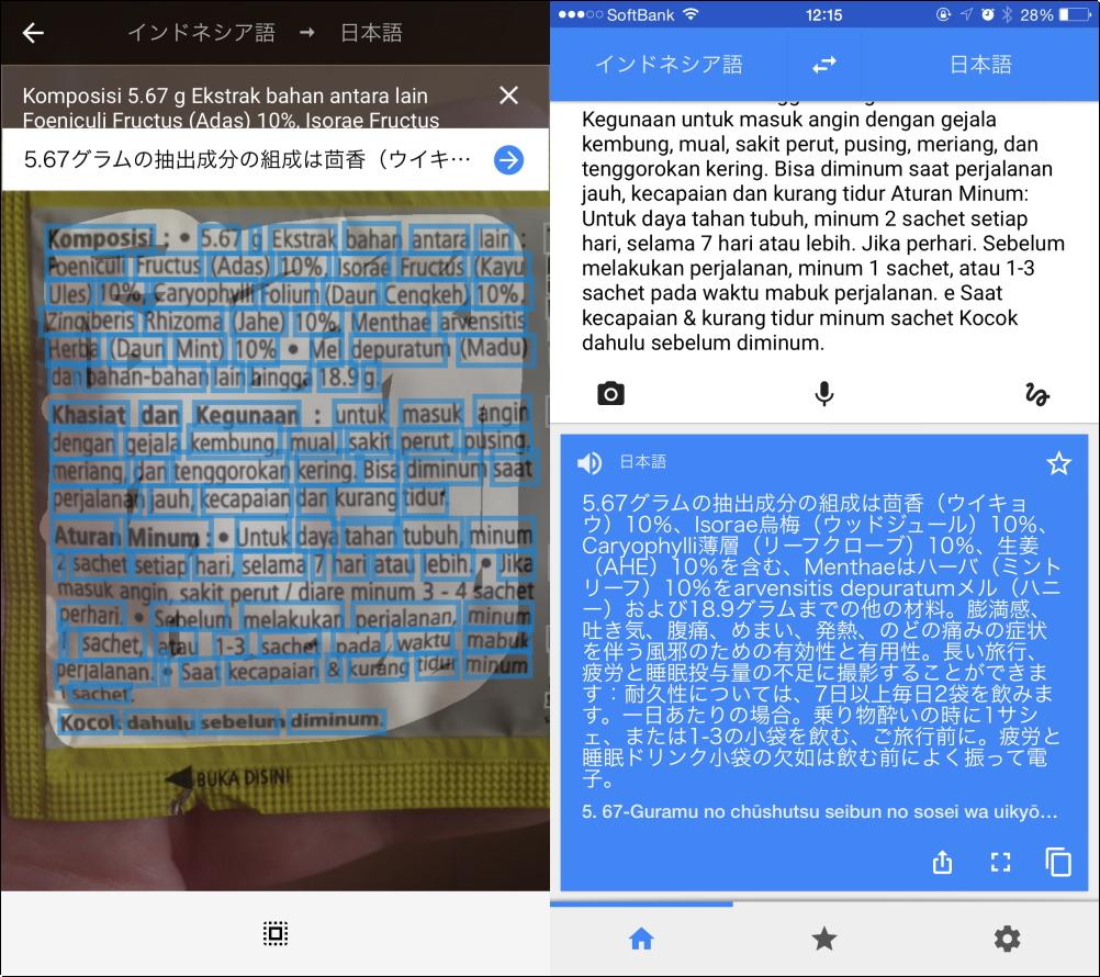 グーグル翻訳 インドネシア語