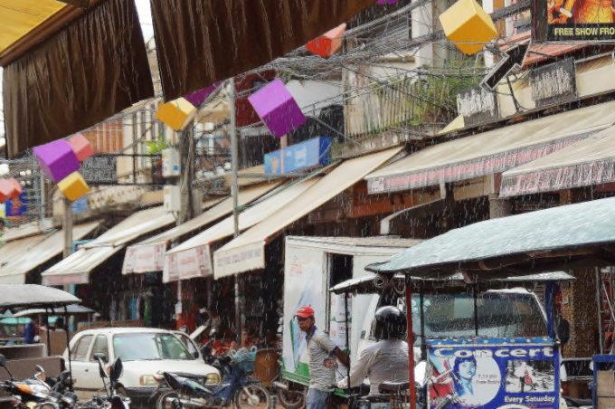 雨季のカンボジア